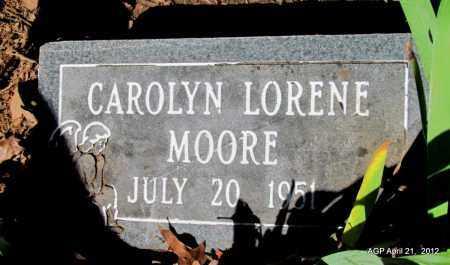 MOORE, CAROLYN LORENE - Crawford County, Arkansas | CAROLYN LORENE MOORE - Arkansas Gravestone Photos