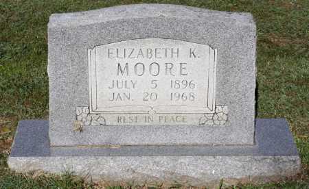 MOORE, ELIZABETH K. - Crawford County, Arkansas   ELIZABETH K. MOORE - Arkansas Gravestone Photos
