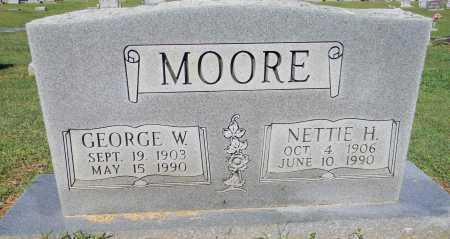 MOORE, GEORGE W - Crawford County, Arkansas | GEORGE W MOORE - Arkansas Gravestone Photos
