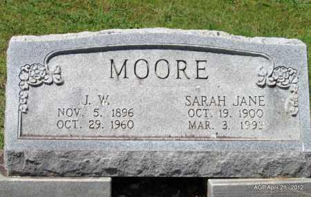 MOORE, SARAH JANE - Crawford County, Arkansas   SARAH JANE MOORE - Arkansas Gravestone Photos