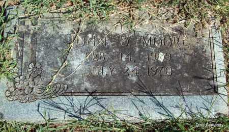 MOORE, JOHN D - Crawford County, Arkansas | JOHN D MOORE - Arkansas Gravestone Photos