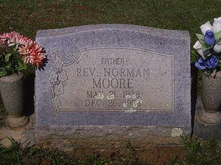 MOORE, NORMAN, REV. - Crawford County, Arkansas   NORMAN, REV. MOORE - Arkansas Gravestone Photos