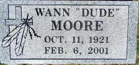 "MOORE, WANN ""DUDE"" - Crawford County, Arkansas   WANN ""DUDE"" MOORE - Arkansas Gravestone Photos"