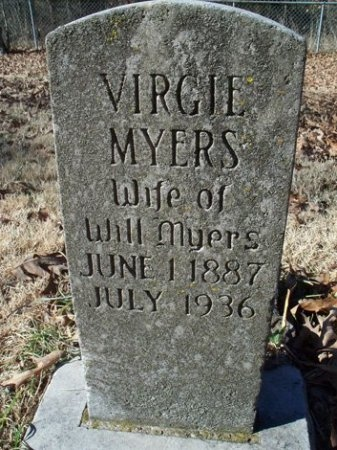 SHAW MYERS, VIRGIE - Crawford County, Arkansas | VIRGIE SHAW MYERS - Arkansas Gravestone Photos