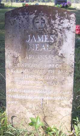 NEAL (VETERAN 1812), JAMES - Crawford County, Arkansas | JAMES NEAL (VETERAN 1812) - Arkansas Gravestone Photos