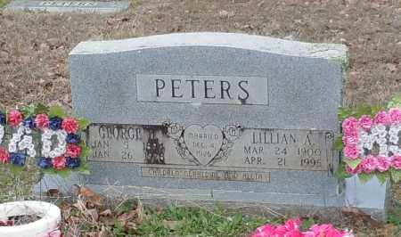 PETERS, GEORGE H & LILLIAN A - Crawford County, Arkansas | GEORGE H & LILLIAN A PETERS - Arkansas Gravestone Photos
