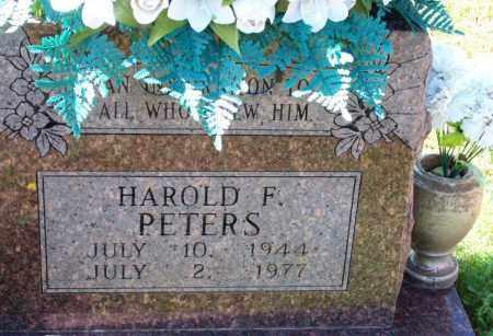 PETERS, HAROLD F - Crawford County, Arkansas   HAROLD F PETERS - Arkansas Gravestone Photos