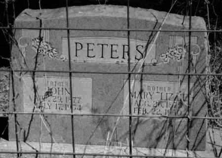 """PETERS, MARY """"LIZZIE"""" - Crawford County, Arkansas 