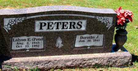 "PETERS, LALYON E ""PETE"" - Crawford County, Arkansas | LALYON E ""PETE"" PETERS - Arkansas Gravestone Photos"