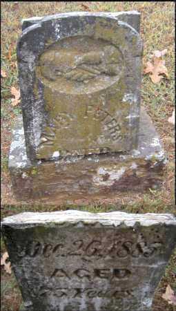PETERS, MARY - Crawford County, Arkansas | MARY PETERS - Arkansas Gravestone Photos