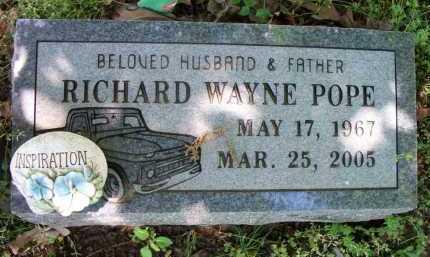 POPE, RICHARD WAYNE - Crawford County, Arkansas | RICHARD WAYNE POPE - Arkansas Gravestone Photos