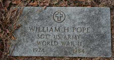 POPE, WILLIAM H - Crawford County, Arkansas | WILLIAM H POPE - Arkansas Gravestone Photos