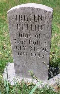 PULLIN, IRHEEN - Crawford County, Arkansas   IRHEEN PULLIN - Arkansas Gravestone Photos