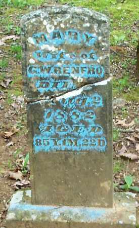 RENFRO, MARY - Crawford County, Arkansas | MARY RENFRO - Arkansas Gravestone Photos