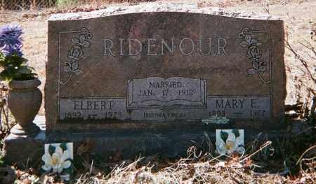 RIDENOUR, MARY E - Crawford County, Arkansas | MARY E RIDENOUR - Arkansas Gravestone Photos