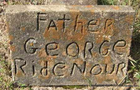 RIDENOUR, GEORGE - Crawford County, Arkansas | GEORGE RIDENOUR - Arkansas Gravestone Photos