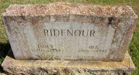 RIDENOUR, IRA - Crawford County, Arkansas | IRA RIDENOUR - Arkansas Gravestone Photos