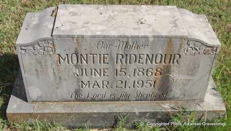 RIDENOUR, MONTIE - Crawford County, Arkansas | MONTIE RIDENOUR - Arkansas Gravestone Photos