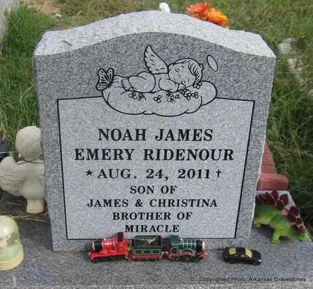 RIDENOUR, NOAH JAMES EMERY - Crawford County, Arkansas | NOAH JAMES EMERY RIDENOUR - Arkansas Gravestone Photos