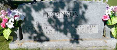 MEEK ROBINSON, VIRGINIA - Crawford County, Arkansas | VIRGINIA MEEK ROBINSON - Arkansas Gravestone Photos