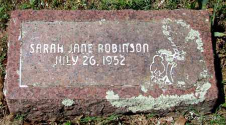 ROBINSON, SARAH JANE - Crawford County, Arkansas | SARAH JANE ROBINSON - Arkansas Gravestone Photos