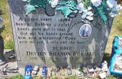 """RUSSELL, DEVIEN SHANNON """"BUBBIE"""" - Crawford County, Arkansas 