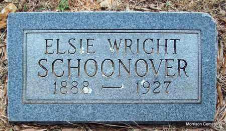 WRIGHT SCHOONOVER, ELSIE - Crawford County, Arkansas | ELSIE WRIGHT SCHOONOVER - Arkansas Gravestone Photos