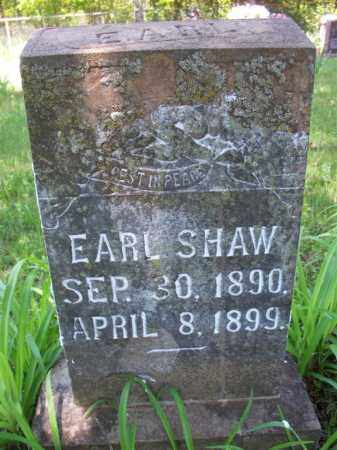 SHAW, EARL - Crawford County, Arkansas | EARL SHAW - Arkansas Gravestone Photos