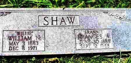 "SHAW, WILLIAM N ""WILLIE"" - Crawford County, Arkansas | WILLIAM N ""WILLIE"" SHAW - Arkansas Gravestone Photos"