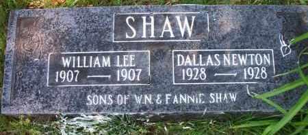 SHAW, WILLIAM LEE - Crawford County, Arkansas | WILLIAM LEE SHAW - Arkansas Gravestone Photos