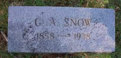 SNOW, G A - Crawford County, Arkansas | G A SNOW - Arkansas Gravestone Photos