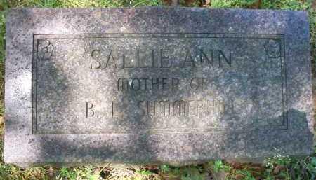 SUMMERHILL, SALLIE ANN - Crawford County, Arkansas | SALLIE ANN SUMMERHILL - Arkansas Gravestone Photos