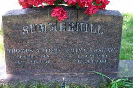 SUMMERHILL, MINA E - Crawford County, Arkansas | MINA E SUMMERHILL - Arkansas Gravestone Photos