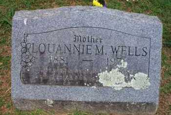 WELLS, LOUANNIE M - Crawford County, Arkansas | LOUANNIE M WELLS - Arkansas Gravestone Photos