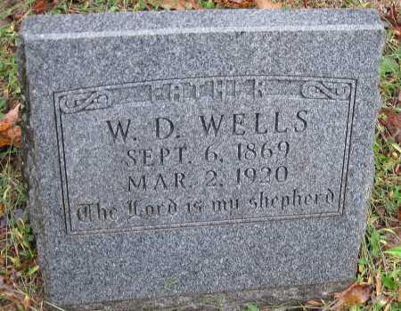 WELLS, W D - Crawford County, Arkansas   W D WELLS - Arkansas Gravestone Photos