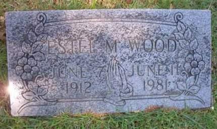 WOOD, ESTEL  M - Crawford County, Arkansas   ESTEL  M WOOD - Arkansas Gravestone Photos