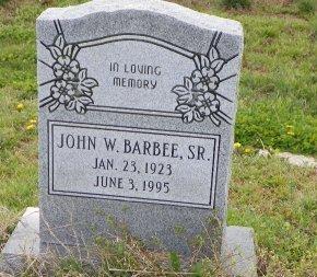 BARBEE, SR., JOHN W - Crittenden County, Arkansas | JOHN W BARBEE, SR. - Arkansas Gravestone Photos