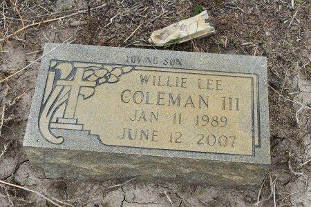 COLEMAN, III, WILLIE LEE - Crittenden County, Arkansas | WILLIE LEE COLEMAN, III - Arkansas Gravestone Photos