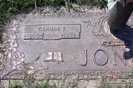 JONES, CLAUDE E - Crittenden County, Arkansas | CLAUDE E JONES - Arkansas Gravestone Photos