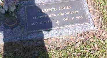 JONES, KAREN D. - Crittenden County, Arkansas | KAREN D. JONES - Arkansas Gravestone Photos