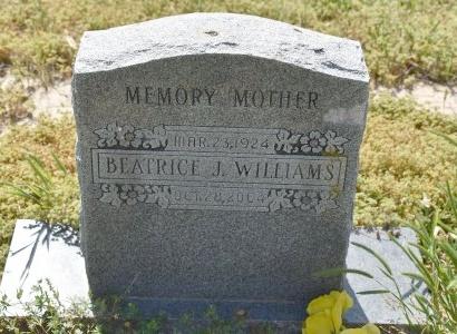 WILLIAMS, BEATRICE J - Crittenden County, Arkansas | BEATRICE J WILLIAMS - Arkansas Gravestone Photos