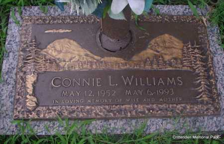 WILLIAMS, CONNIE L - Crittenden County, Arkansas | CONNIE L WILLIAMS - Arkansas Gravestone Photos
