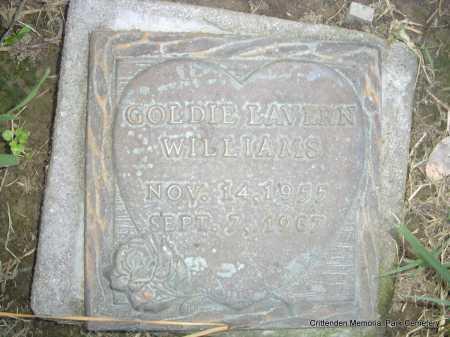 WILLIAMS, GOLDIE LAVERN - Crittenden County, Arkansas | GOLDIE LAVERN WILLIAMS - Arkansas Gravestone Photos