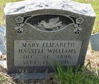 WILLIAMS, MARY ELIZABETH - Crittenden County, Arkansas | MARY ELIZABETH WILLIAMS - Arkansas Gravestone Photos