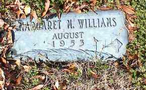 WILLIAMS, MARGARET M - Crittenden County, Arkansas | MARGARET M WILLIAMS - Arkansas Gravestone Photos