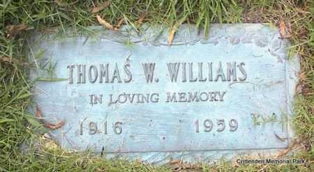 WILLIAMS, THOMAS W - Crittenden County, Arkansas   THOMAS W WILLIAMS - Arkansas Gravestone Photos