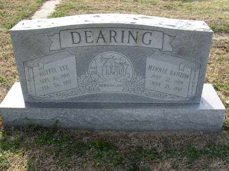 DEARING, MINNIE - Cross County, Arkansas | MINNIE DEARING - Arkansas Gravestone Photos