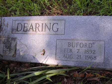 DEARING, BUFORD - Cross County, Arkansas   BUFORD DEARING - Arkansas Gravestone Photos