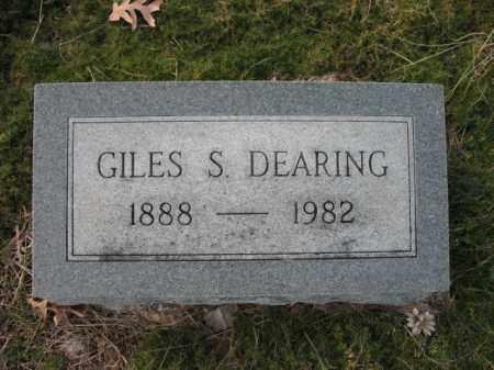 DEARING, GILES S - Cross County, Arkansas | GILES S DEARING - Arkansas Gravestone Photos