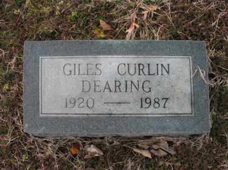DEARING, GILES CURLIN - Cross County, Arkansas | GILES CURLIN DEARING - Arkansas Gravestone Photos